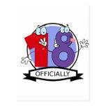Oficialmente bandera de 18 cumpleaños postal
