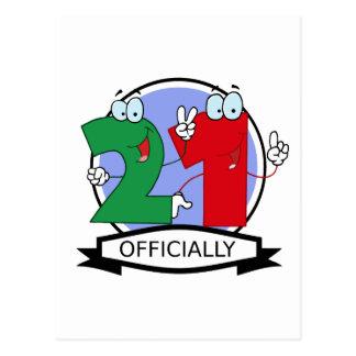 Oficialmente bandera de 21 cumpleaños postales