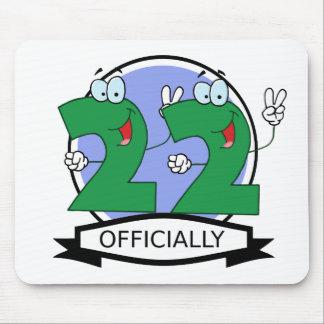 Oficialmente bandera de 22 cumpleaños mouse pads