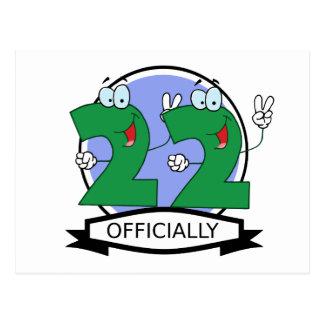 Oficialmente bandera de 22 cumpleaños postales
