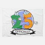 Oficialmente bandera de 25 cumpleaños toalla