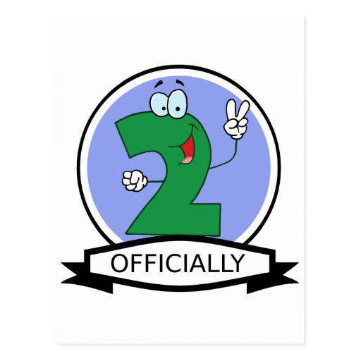 Oficialmente bandera de 2 cumpleaños tarjetas postales