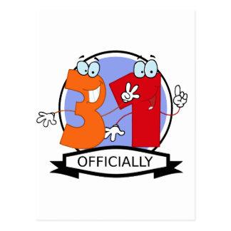 Oficialmente bandera de 31 cumpleaños postales