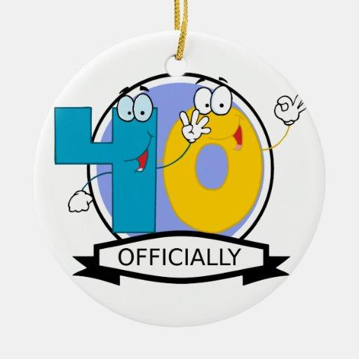Oficialmente bandera de 40 cumpleaños ornamente de reyes