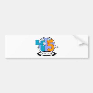 Oficialmente bandera de 45 cumpleaños pegatina para auto