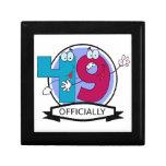Oficialmente bandera de 49 cumpleaños cajas de joyas