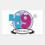 Oficialmente bandera de 49 cumpleaños rectangular pegatinas