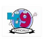 Oficialmente bandera de 49 cumpleaños postal
