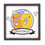 Oficialmente bandera de 50 cumpleaños cajas de joyas de calidad