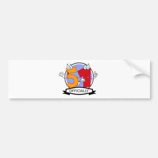 Oficialmente bandera de 51 cumpleaños pegatina de parachoque
