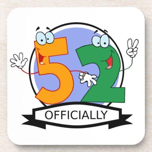 Oficialmente bandera de 52 cumpleaños posavasos