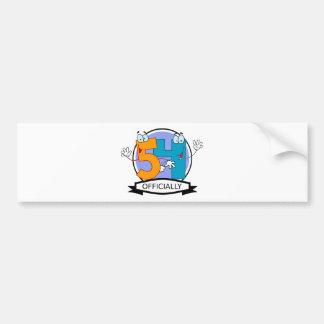 Oficialmente bandera de 54 cumpleaños pegatina para auto