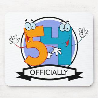 Oficialmente bandera de 54 cumpleaños tapetes de ratones