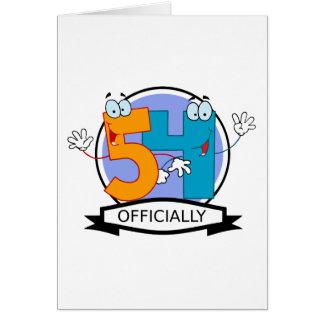 Oficialmente bandera de 54 cumpleaños tarjeta de felicitación