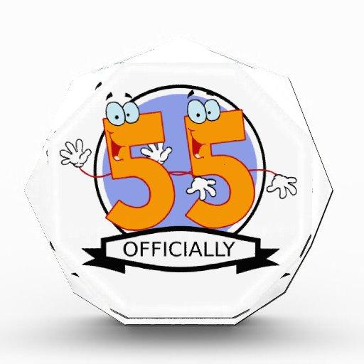 Oficialmente bandera de 55 cumpleaños