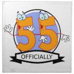 Oficialmente bandera de 55 cumpleaños servilleta