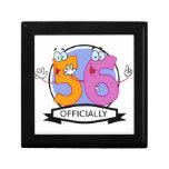 Oficialmente bandera de 56 cumpleaños cajas de regalo