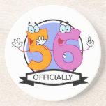 Oficialmente bandera de 56 cumpleaños posavasos manualidades
