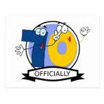 Oficialmente bandera de 70 cumpleaños postales