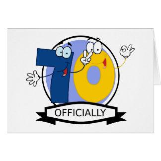 Oficialmente bandera de 70 cumpleaños tarjeta de felicitación