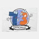 Oficialmente bandera de 73 cumpleaños toalla de mano