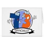 Oficialmente bandera de 73 cumpleaños tarjeta