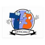 Oficialmente bandera de 73 cumpleaños tarjetas postales