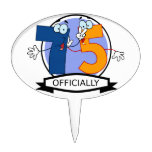 Oficialmente bandera de 75 cumpleaños figura para tarta