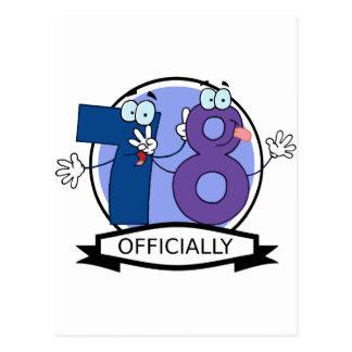 Oficialmente bandera de 78 cumpleaños postal
