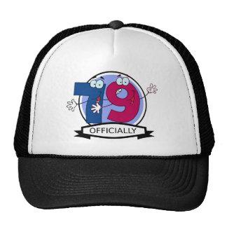 Oficialmente bandera de 79 cumpleaños gorras de camionero