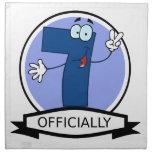 Oficialmente bandera de 7 cumpleaños servilleta imprimida