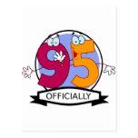 Oficialmente bandera de 95 cumpleaños tarjeta postal