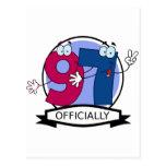 Oficialmente bandera de 97 cumpleaños tarjeta postal