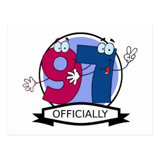 Oficialmente bandera de 97 cumpleaños postal