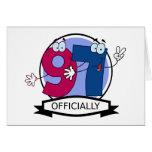 Oficialmente bandera de 97 cumpleaños tarjetas