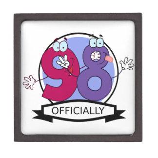 Oficialmente bandera de 98 cumpleaños caja de regalo de calidad