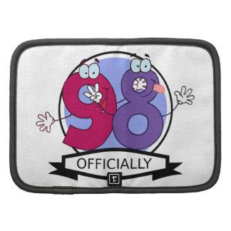 Oficialmente bandera de 98 cumpleaños organizadores