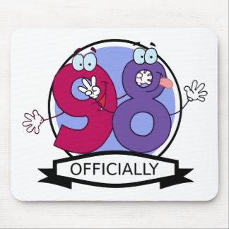 Oficialmente bandera de 98 cumpleaños tapete de ratones