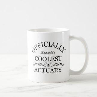 Oficialmente el actuario más fresco del mundo taza básica blanca