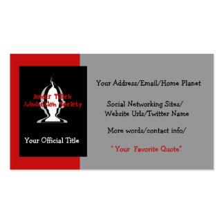 Oficialmente el suyo plantilla de tarjeta de negocio