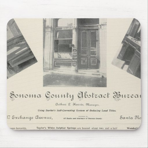 Oficina abstracta del condado de Sonoma, Californi Alfombrilla De Raton