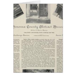 Oficina abstracta del condado de Sonoma, Californi Felicitaciones