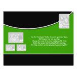 Oficina corporativa verde blanca del negro de la p tarjetas informativas