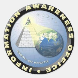 Oficina de DARPA del sello de la conciencia de la Pegatina Redonda