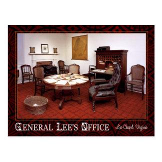 Oficina de general Roberto E. Lee, capilla de Lee, Tarjeta Postal