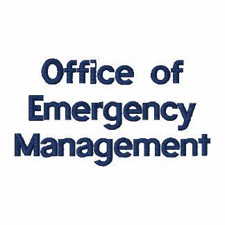Oficina de la gestión de emergencia polo bordado