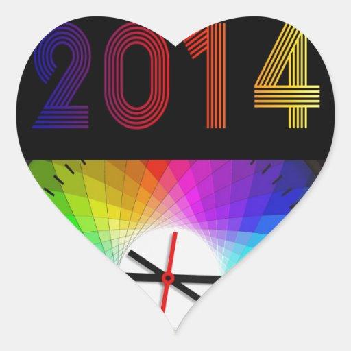 Oficina del destino de 2014 engranajes del reloj pegatina en forma de corazón