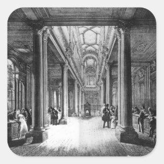 Oficina del dividendo, Banco de Inglaterra Pegatina Cuadrada