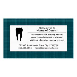 oficina dental de la tela escocesa plantillas de tarjetas personales
