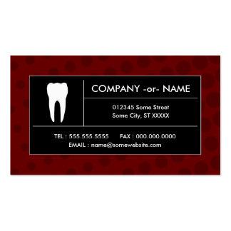 oficina dental de semitono tarjetas de visita
